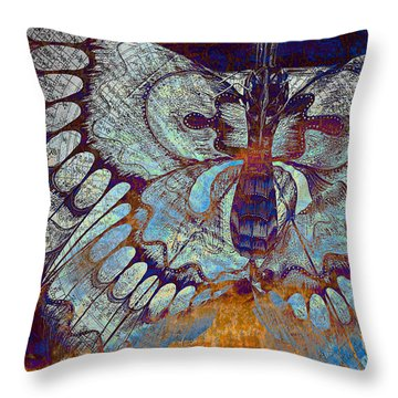 Wings Of Destiny Throw Pillow