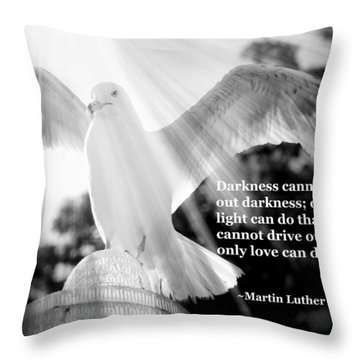 Wings Of Freedom Illuminated With Martin Luther King Jr. Quote Throw Pillow