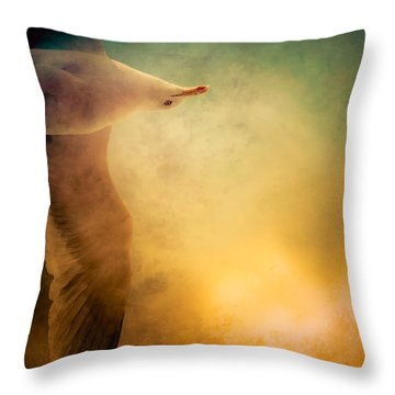 Wings Of Freedom Throw Pillow by Loriental Photography