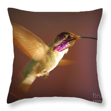 Wings Of Gold Throw Pillow