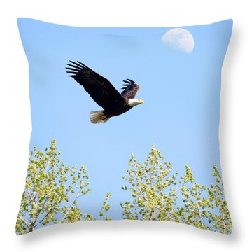 Wings Of The Moon Throw Pillow by Lori Tordsen