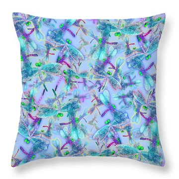 Wings On Blue Duvet Cover Throw Pillow
