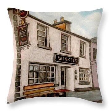 Winkles Pub Kinvera Ireland Throw Pillow by Melinda Saminski