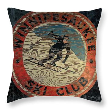 Winnipesaukee Ski Club 2 Throw Pillow