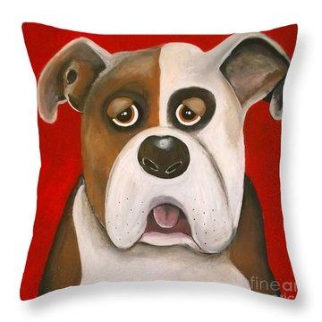 Winston The Dog Throw Pillow