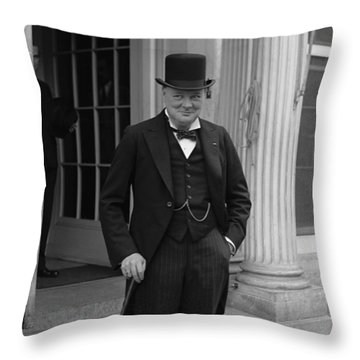 Winston Churchill Throw Pillow by War Is Hell Store