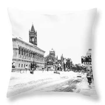 Winter 2015 In Copley Square Throw Pillow