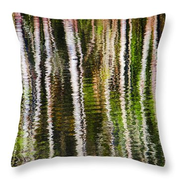 Winter Abstract Throw Pillow by Carolyn Marshall