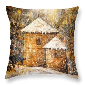 Winter Angel Throw Pillow