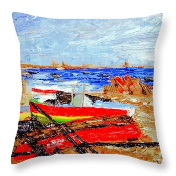 Winter At Provincetown Throw Pillow