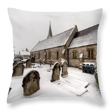 Winter At St Paul Throw Pillow by Adrian Evans