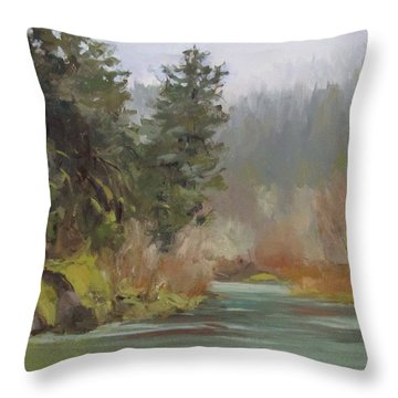 Winter At Swiftwater Throw Pillow