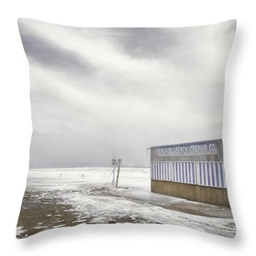 Winter At The Cabana Throw Pillow by Scott Norris