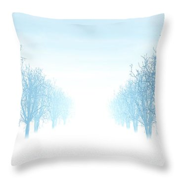 Winter Avenue Throw Pillow by Nicholas Burningham