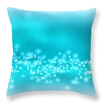 Winter Background Throw Pillow by Modern Art Prints