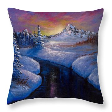 Winter Beauty Throw Pillow by C Steele