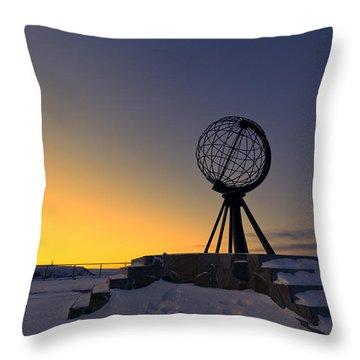 Winter Beyond The Arctic Circle Throw Pillow by Ulrich Schade