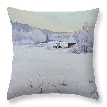 Winter Blanket Throw Pillow by Martin Howard
