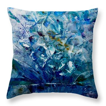 Winter Bouquet Throw Pillow by Lisa Kaiser