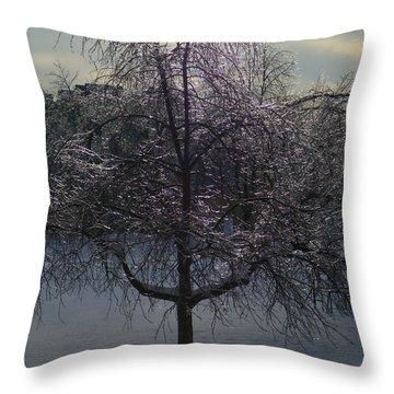 Winter Candelabrum Throw Pillow