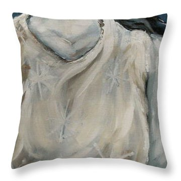 Winter Throw Pillow by Carrie Joy Byrnes