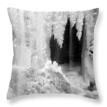 Winter Cave Throw Pillow
