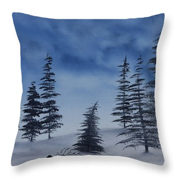 Winter Chill Throw Pillow
