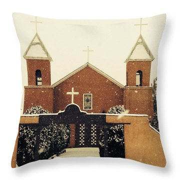 Winter Church Throw Pillow