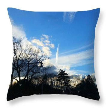 Winter Clouds Throw Pillow