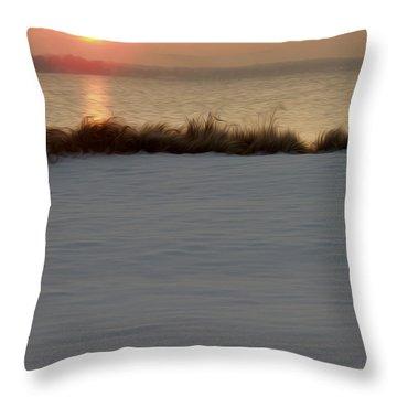 Throw Pillow featuring the digital art Winter Coast by Kelvin Booker