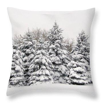 Winter Copse Throw Pillow