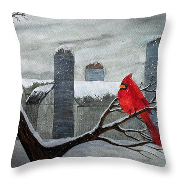 Winter Delight Throw Pillow