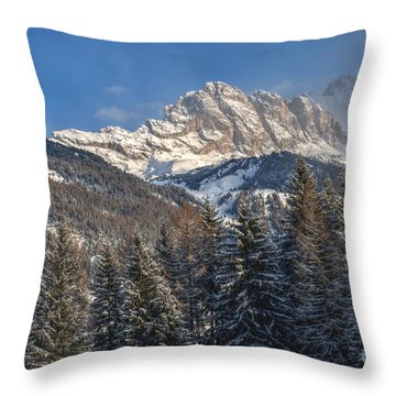 Winter Dolomites Throw Pillow