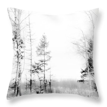 Winter Drawing Throw Pillow