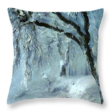 Winter Dreams Throw Pillow by Dragica  Micki Fortuna