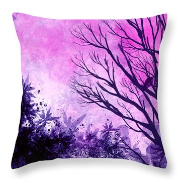 Winter Dreams  Throw Pillow by Persephone Artworks