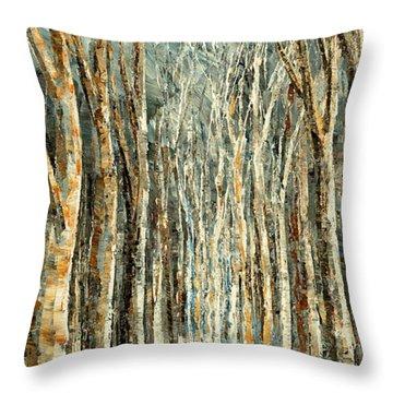 Winter Dreams Throw Pillow by Tatiana Iliina