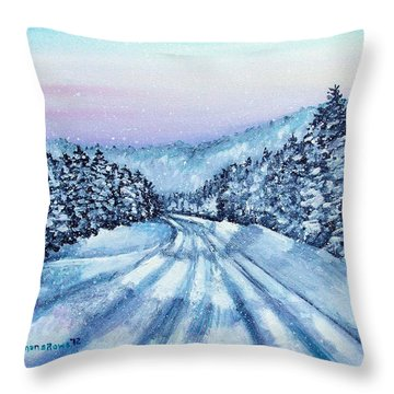 Winter Drive Throw Pillow by Shana Rowe Jackson