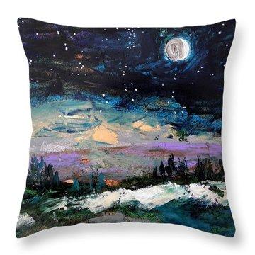 Winter Eclipse Throw Pillow