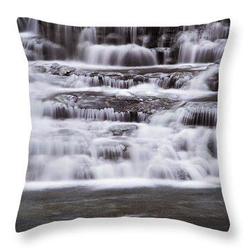 Winter Fall Throw Pillow by Melissa Petrey