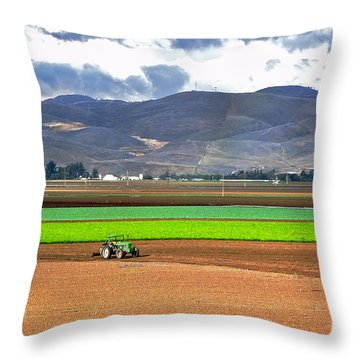 Winter Farm In California Throw Pillow