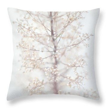Throw Pillow featuring the photograph Winter Flower by Suzanne Powers