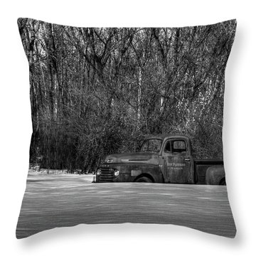 Winter Ford Truck 1 Throw Pillow