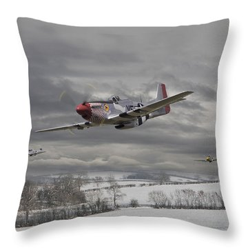 Winter Freedom Throw Pillow