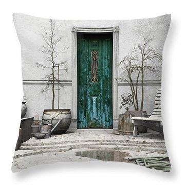 Winter Garden Throw Pillow by Cynthia Decker
