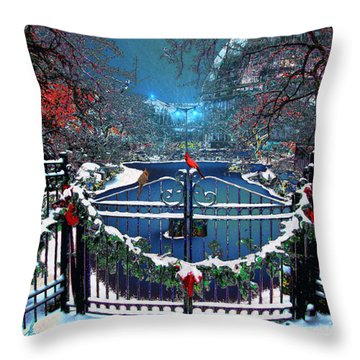 Winter Garden Throw Pillow