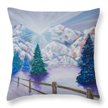 Winter Glow Throw Pillow