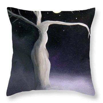 Winter Goddess Throw Pillow by Alys Caviness-Gober