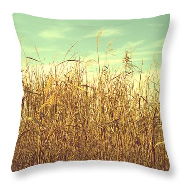 Winter Grass Throw Pillow by Rachel Mirror