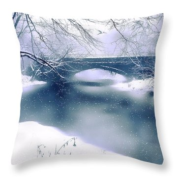 Winter Haiku Throw Pillow by Jessica Jenney